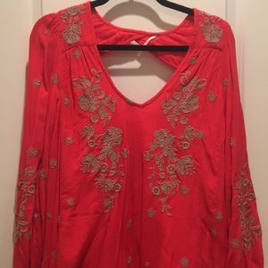 Free people embroidered tunic dress size small